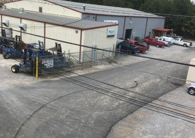 Aerial shot of the Lift Truck Inc. Shop