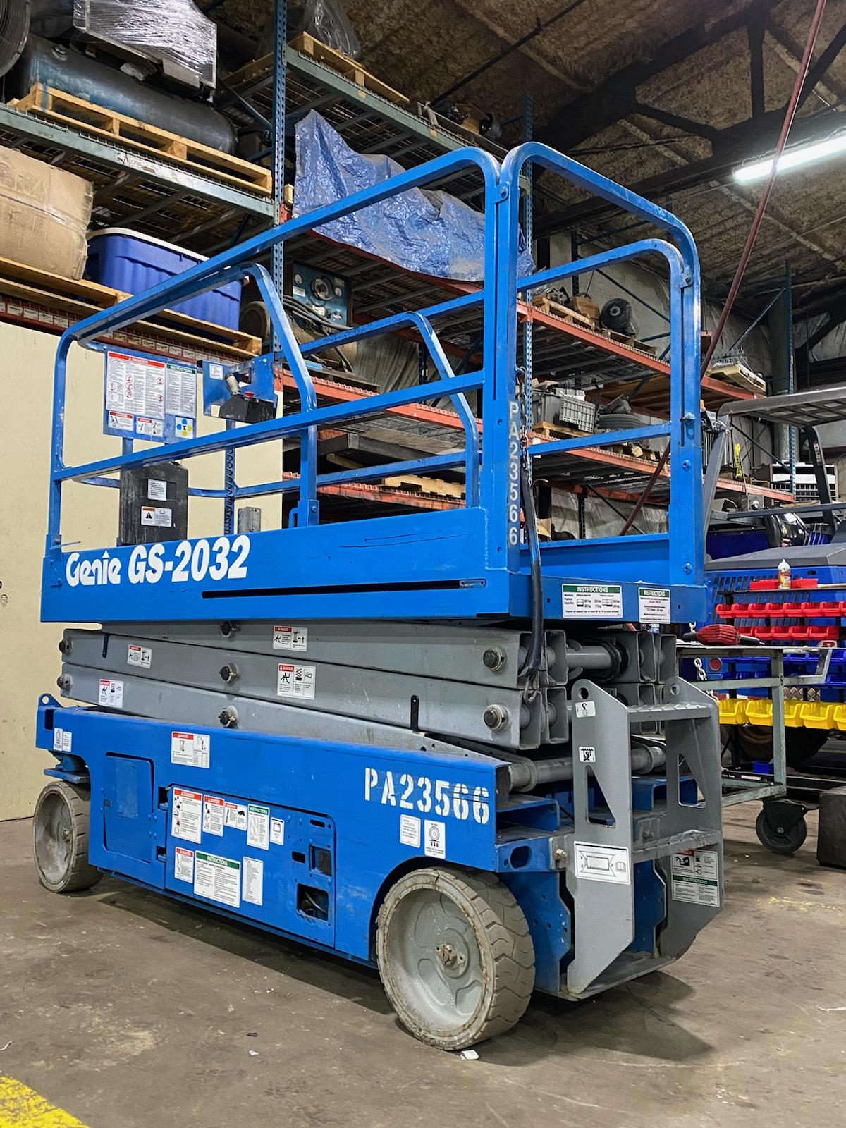 blue Genie lift truck