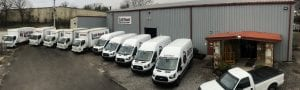 Another view of the Life Truck Sales and Service fleet of trucks and vans