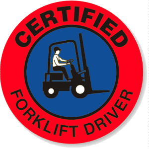 Certified Forklift Driver Badge