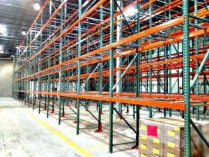 Empty Pallet Racking warehouse waiting on forklift to begin filling it